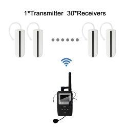 UHF 휴대용 Earhook 수신기 무선 여행 안내 시스템 1 전송기 및 30대의 수신기