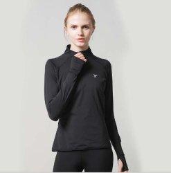 Frauen, die Sportkleidung-Schweiss-Hemd-Gymnastik-Eignung-athletischen Abnützung-Pullover laufen lassen