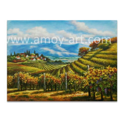 De met de hand gemaakte Olieverfschilderijen van de Wijngaard van de Workshop van de Distributie van de Kunst Amoy