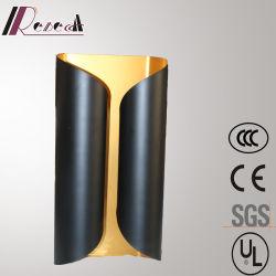 4居間のための軽いマットの黒い鉄の壁ランプ