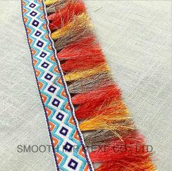 Form-Entwurfmehrfarbenpompom-Troddel-Stickerei-Spitze-Zutat-Kleid