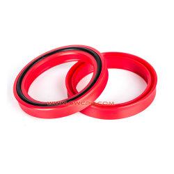 De borracha de silicone resistente ao desgaste personalizado U Cup O anel de vedação da junta da haste para máquinas-ferramentas