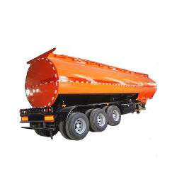 3 essieux de carburant du réservoir pétrolier semi-remorque avec couvercle de trou d'homme de 4 pouces pour la vente