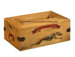 Caja de Regalo de Pascua cajas de almacenamiento almacenamiento Vintage de madera Caja de carga