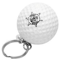 regalo de promoción mini pelota de golf de espumas de poliuretano con llavero