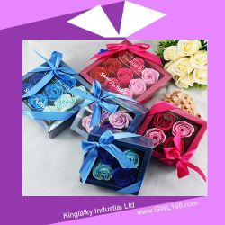 Custmozied Flower Soap mit Exquisite Box Packing (BH-001)