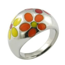 Qualitäts-Brasilien-Decklack-Blumen-Ring