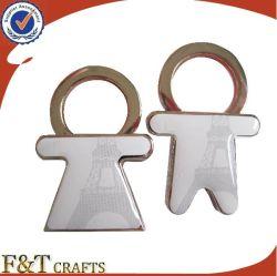 Cadeau de mariage personnalisé de vente chaude Fashion correspondant à deux trousseaux de métal