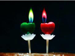 Vela de aniversário de cores elegantes