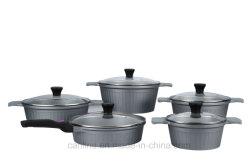 10ПК на базе алюминия Non-Stick посуда для приготовления пищи (CLA011-серии)