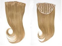 Encaixar os freios de meia peruca com extensão de cabelo virgem (AV-HW00-11)