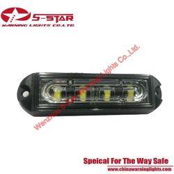 Los colores de doble rejilla cambiante luz de advertencia de parpadeo del LED de luz estroboscópica