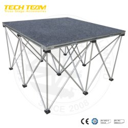 Utiliza las etapas Etapa portátil plegable de aluminio, la etapa de venta