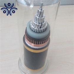 Simple Coeur de blindage en fil de cuivre avec isolation XLPE 11kv Câble d'alimentation en aluminium