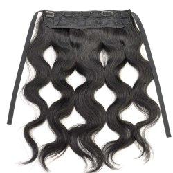 Cheveux humains frontaux de Remy de lacet de vague de corps directement avec l'agrafe de courroie d'attache dans les cheveux