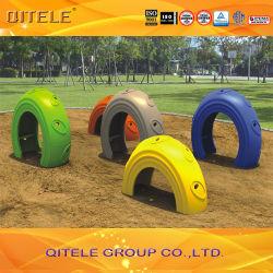 Nuevo Parque Infantil cubierto de plástico de los niños de los pasos (PA-013)