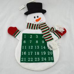 La pendaison tissu Calendrier de l'avent de Noël compte à rebours de Noël Bonhomme de neige
