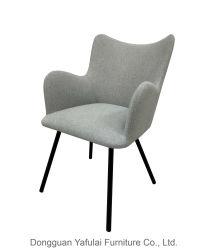 Новый классический металлической матрицы в подлокотнике обеденный стул мебель