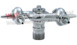 Les mesures sanitaires SS304 BSPP Double rotation de buse de lavage