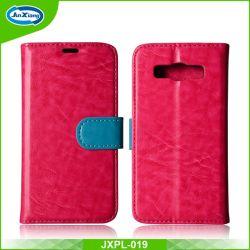 Accessoires de téléphonie mobile cellulaire Portefeuille en cuir pour SAMSUNG de cas