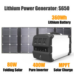 bewegliches Batterie-Backup UPS-400W mit faltbarem Sonnenkollektor 80W
