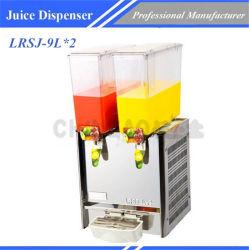 Novo Depósito Duplo dispensador de suco de aquecimento de refrigeração Lrsj-9L*2