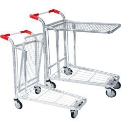 Chariot à outils en acier robuste plate-forme logistique de stockage Entrepôt Troley Panier chariot