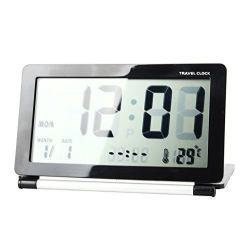 LCD de Digitale Wekker van de Reis van het Scherm Mini Vouwbare