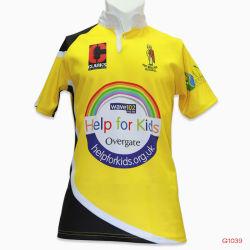 L'équipe d'engrenage de vêtements de sport Healong Club de Rugby de sublimation Jerseys Cheap tee-shirts de Rugby