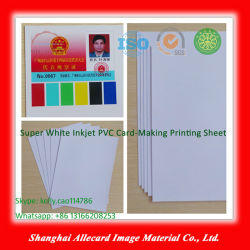 Het super Witte van pvc van Inkjet Plastic Kleurrijke van het pvc- Blad Blad van de pvc- Laminering