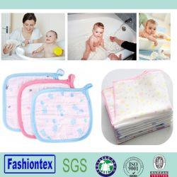Органический Хлопок Washcloth малыша перед лицом полотенце OEM Muslin печати ткань