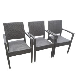خارجيّة حديقة فناء أثاث لازم ألومنيوم قابل للتراكم يتعشّى [رتّن] كرسي تثبيت ([ك01])