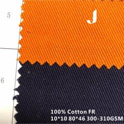 100% algodão 10*10/80*46 Plain Tingidos de fogo/retardador de chama/Tecido resistente sarjado tecidos/tecido de perfuração para a Segurança Têxteis/Vestuário de protecção de roupa/Vestuário