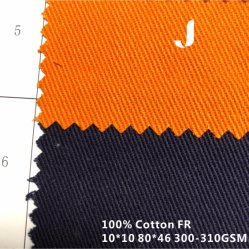100% algodão tingidos simples retardante de incêndio e tecido resistente para vestuário de protecção
