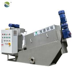Matadero automático de tratamiento de aguas residuales de deshidratación de lodos filtro prensa de tornillo