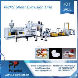 二重ねじシートの放出およびプラスチックPP/PSの製品のThermoforming機械生産ライン