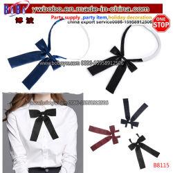 ポリエステルタイのNeckwearの絹のネクタイのタイは編んだBowtieのタイの細い結婚式のタイ党タイ(B8115)を