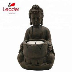 Top Ventas Polyresin Portacandelitas Pequeño Buda la decoración del hogar, la resina Mini Buda
