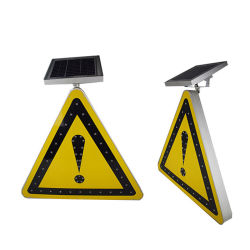 Segnali stradali riflettenti solari di avvertenza di sicurezza stradale del triangolo del LED