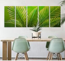 Il più grande contemporaneo del foglio di verde di arte della parete di Imagemetal di vista descrive l'illustrazione moderna della pittura della foresta pluviale delle piante di tropico per appendere per la decorazione domestica