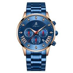 Edelstahl-Armbanduhr der modernen Männer mit Chronograph-Quarz-Bewegung (JY-ST070)