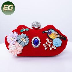 مصنع الجملة OEM أزياء حقائب اليد النساء زهرة اللؤلؤ مساء حقائب زفاف الحزب Eb1059