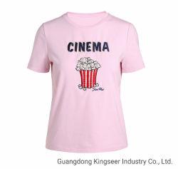 new Design Fashion Undershirt 숙녀 t-셔츠 - Ks0061를 입는 도매 츄리닝 스웨트 셔츠가 짧은 소매 면 직물 우연한 스포츠 착용에 의하여 여자 수를 놓는다