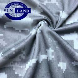 Digitale Camo die de Sporten van de Polyester van 100% om de Stof van het Netwerk van het Overhemd van de Hals voor het Af:drukken van de Sublimatie afdrukt