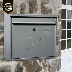 Modernes galvanisiertes Stahlmetall Wand-Hängen großen Zeitschriften-Post-Briefkasten ein