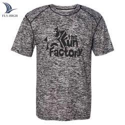 印刷の人の100%年のポリエステル乾燥した適合の平野のTシャツをカスタム設計しなさい
