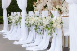 1つの停止サービス提供の結婚式のイベントの家具の椅子カバーサッシュの装飾