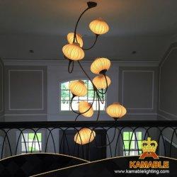 Lampada Pendant dell'hotel di progetto della lanterna decorativa dell'interno su ordine del tessuto (KACH05)