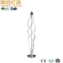 La spirale dell'argento dell'indicatore luminoso di striscia del LED mette a nudo la lampada moderna del pavimento