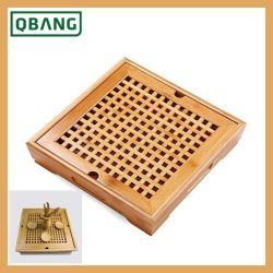 Gongfu Tea Tray Set Lade Type Chinese Bamboo Tea Plate Solid Wood Opslag Serving Board